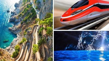 Capri boat tour from Rome with transfer by high speed train